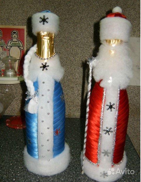 Новогодние бутылки своими руками фото