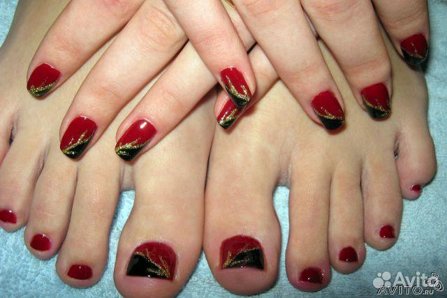 Ногти крашеные гель лаком