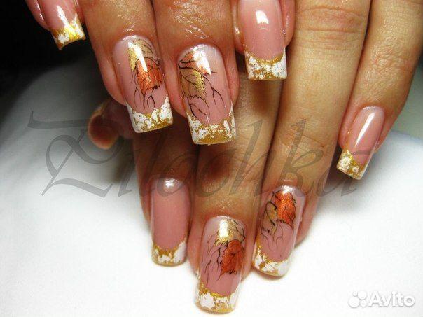 Дизайны ногтей гель лаками осень