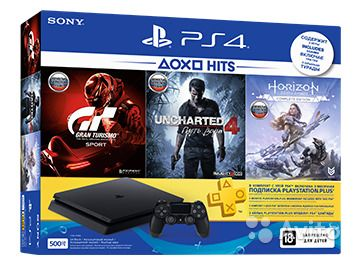 Sony PlayStation 4 Slim 500gb + 3 игры (3мес PS+)