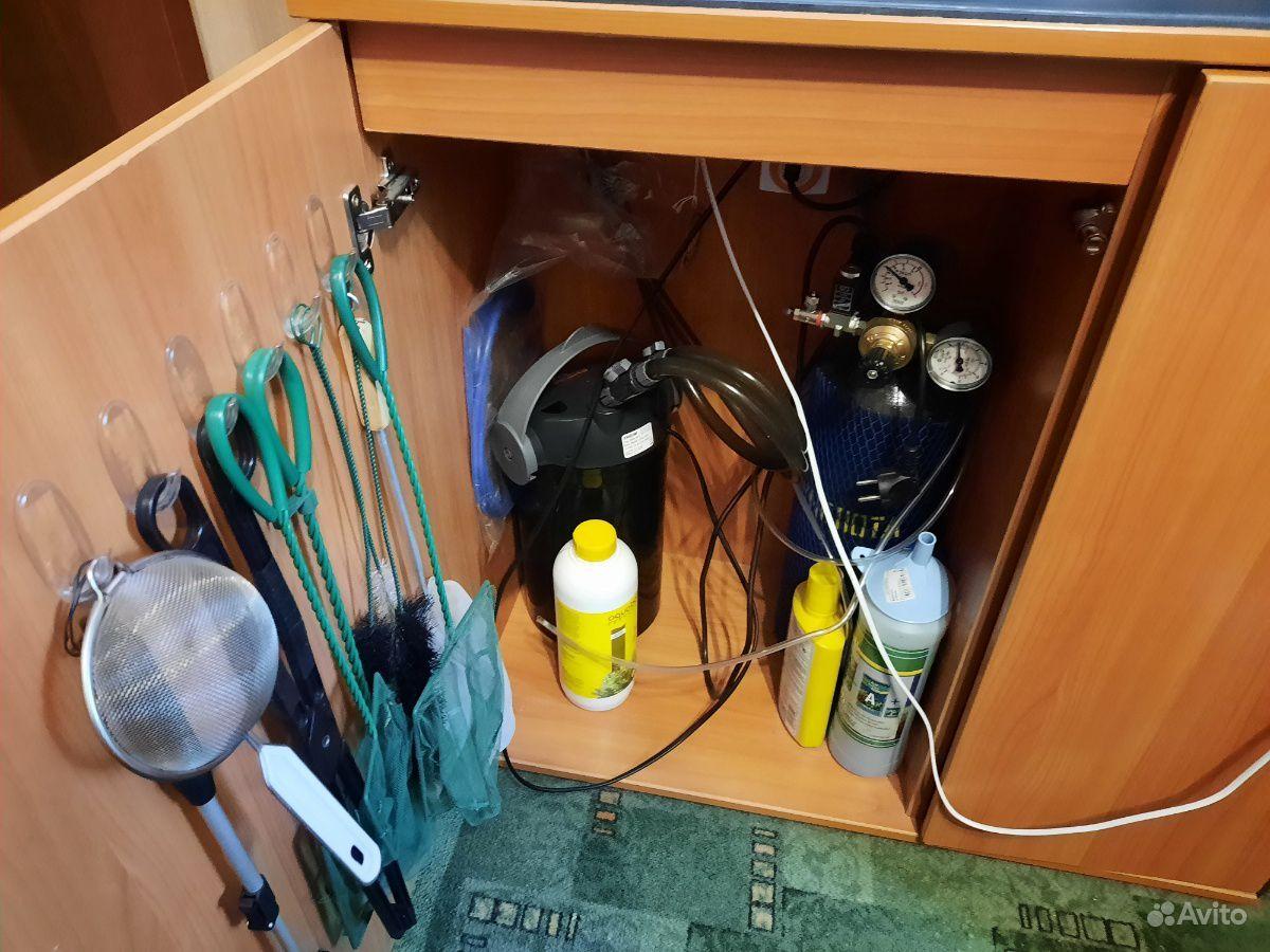 Аквариум 120л с тумбой (в полной комплектации) купить на Зозу.ру - фотография № 1
