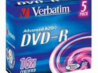 DVD-R Verbatim 4.7Gb 16x Jewel case (5шт) Новые