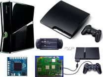 Ремонт xBox 360, One, Sony PSP, PS2, PS3, PS4