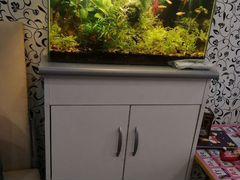 Аквариумы, комоды, фильтры, грунт, декорации, рыбк