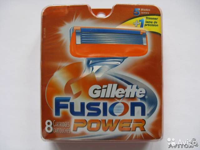 Лезвия Gillette Fusion + Power (USA made)