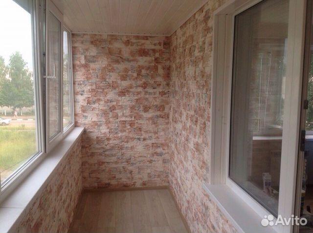 Обшивка балконов и лоджий декоративным камнем, фото, видео, .
