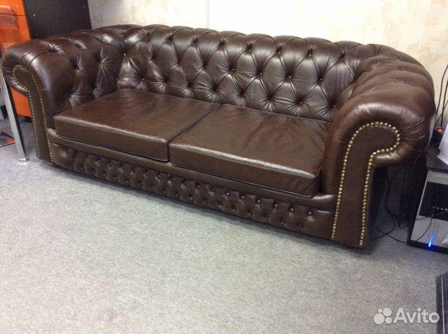 c76883635834 Раскладной кожаный диван кровать Chesterfield купить в Санкт ...