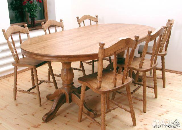 столы и стулья из массива дерева фото