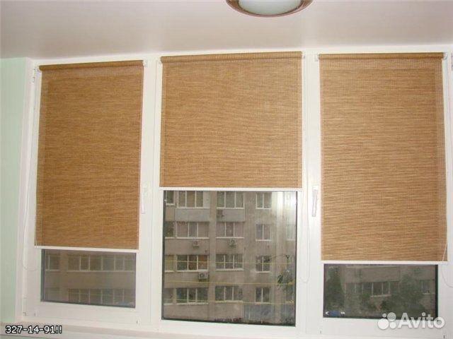 рулонная штора в интерьере фото