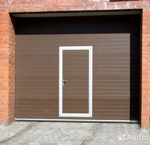 секционные ворота с калиткой дверью цена