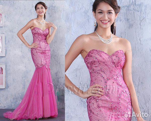 137a5fd3988 Шикарное выпускное вечернее платье розового цвета купить в Москве на ...