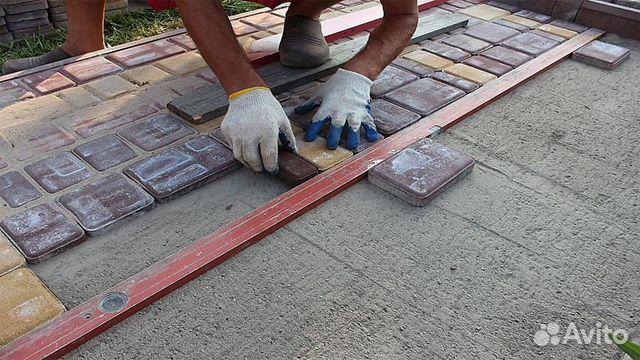 Укладка тротуарной плитки во Владимире и области цена за