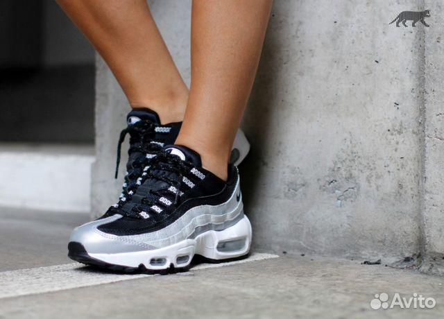 Женские кроссовки Nike air max 95 серебро  8f1e924dfaa0c