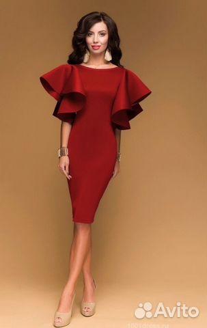 1745ccfe9d0 Новое Красное платье с пышными рукавами купить в Рязанской области ...