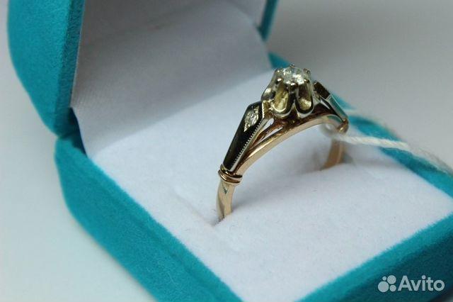 Золотое кольцо с бриллиантом 583 пр— фотография №1. Адрес  Свердловская  область ... d15fefc045f