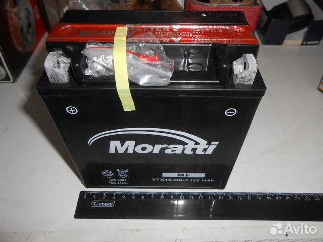 Аккумулятор для мототехники Moratti YTX16-BS-1 14Ач пр - фото 10