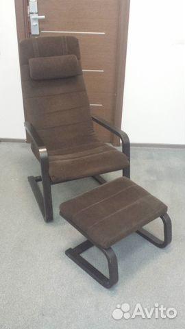 кресло качалка Ikea Boliden с табуретом для ног Festimaru