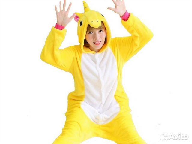 4a27635ec829 Кигуруми (kigurumi) пижама костюм желтый Пони | Festima.Ru ...