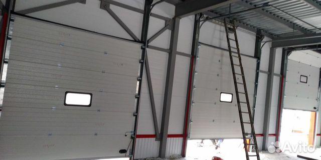 Ворота гаражные секционные Дамаст