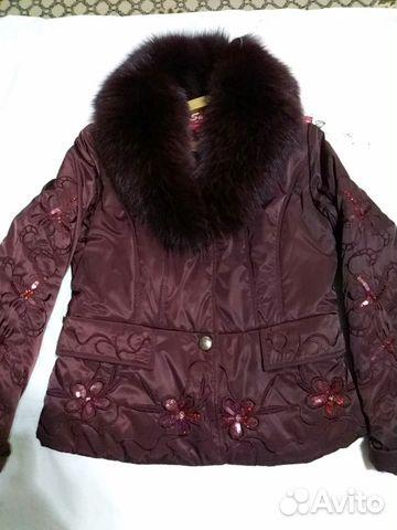 0f151aa5b18 Куртка утепленная.Зима.Воротник натуральный мех— фотография №1