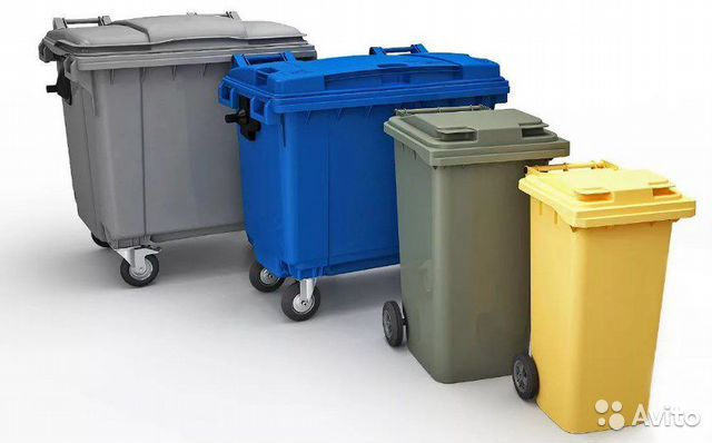 Plastic garbage containers (120, 240, 1100 l)