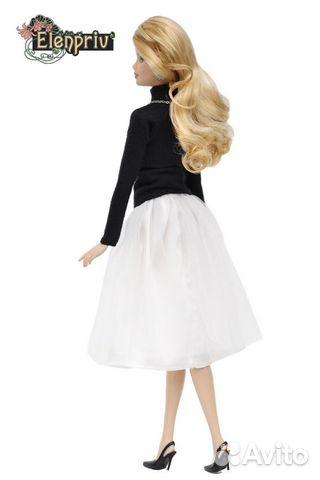 Одежда Водолазка+юбка из тюля для Барби FAO-004