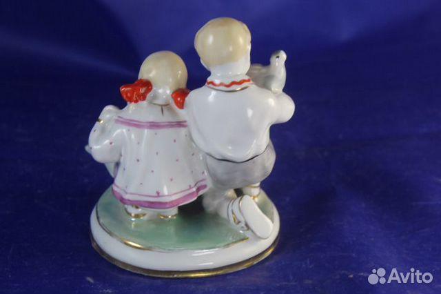 Фарфор статуэтка Дети и голуби Старый Киев Глобус 89203149703 купить 4