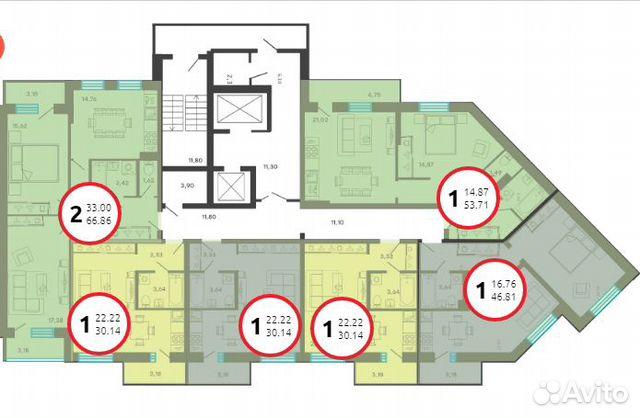 Студия, 30.1 м², 1/16 эт. 89109732876 купить 4