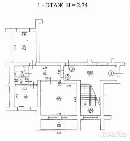 2-к квартира, 62 м², 1/5 эт. 89052474860 купить 4
