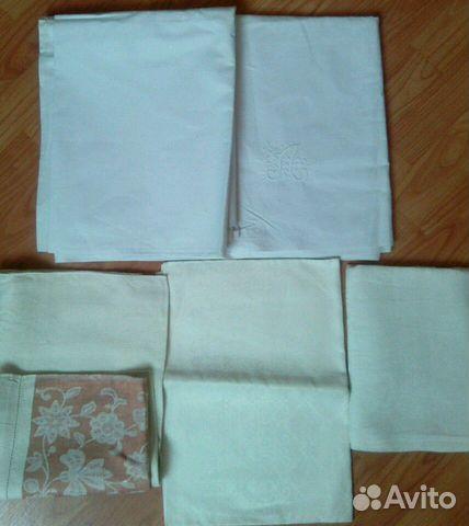 Простыни, полотенца льняные СССР 89531784236 купить 1