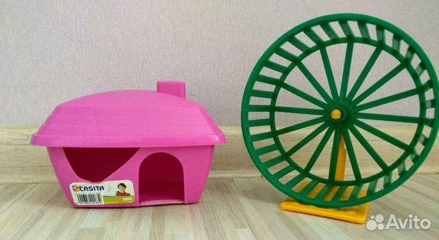 Домик и колесо для хомяка 89217340358 купить 1