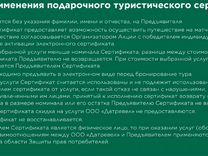 Сетрификат на поездку на матч сборной России