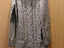 Вязаное платье-кофта