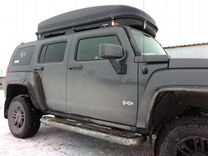 Автобокс VetlaN 1100л черный на Hyundai Dynasty