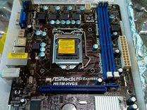 Новая LGA 1155 AsRock H61M- hvgs