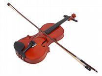 Скрипка новая со смычком и чехлом