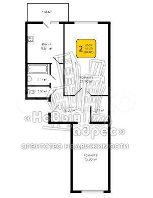 2-к квартира, 65.1 м², 2/10 эт.  89587935438 купить 4