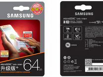 Карта Памяти MicroSD SAMSUNG EVO Plus 64 U3 10Clas