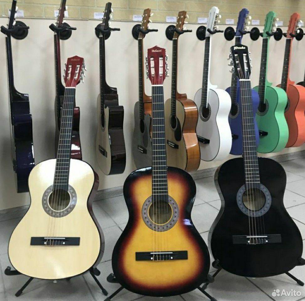 Гитара новая классическая + чехол  89116169304 купить 1