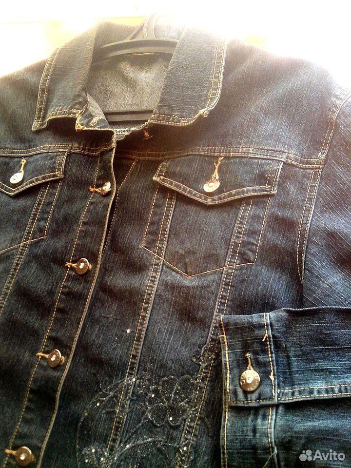 Джинсовая куртка 48-50  89106075381 купить 2