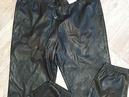 Кожаные брюки женские (джогеры)