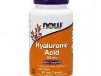 Связки и суставы NOW Hyaluronic Acid with MSM 60 в