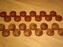Шашки деревянные (из ценных пород дерева)