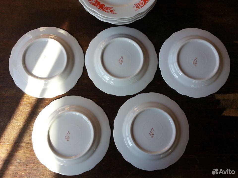 Набор тарелок Дулево СССР