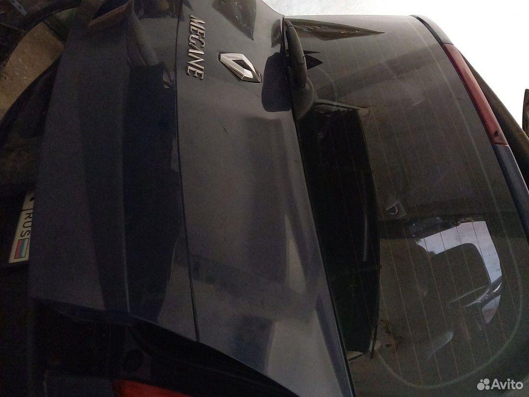 Рено Меган 2. Крышка багажника хетчбек. Синяя