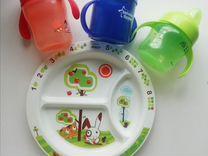 Поильники, тарелка Avent — Товары для детей и игрушки в Санкт-Петербурге